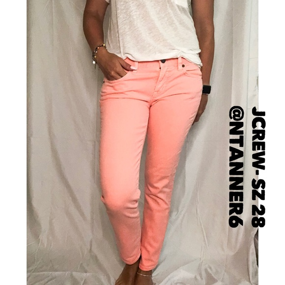 98e599195e38b JCREW - Salmon Pink denim jeans
